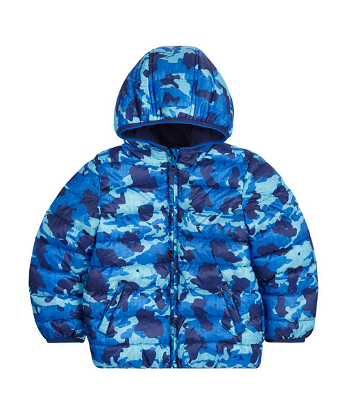 Blue Padded Camo Jacket