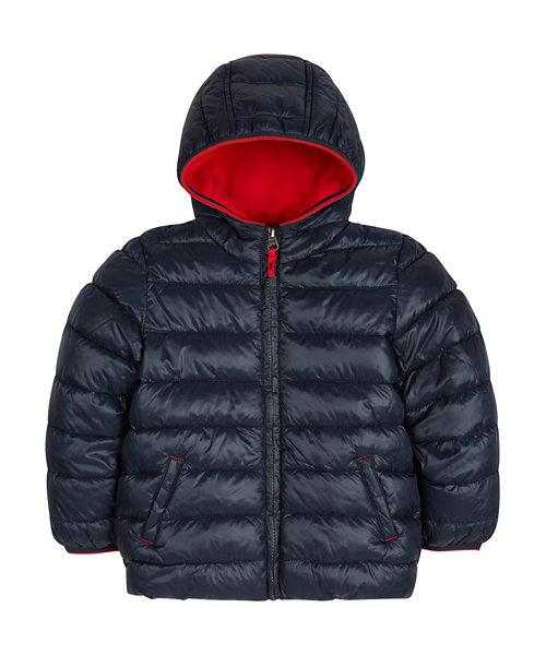 Navy Puffa Coat