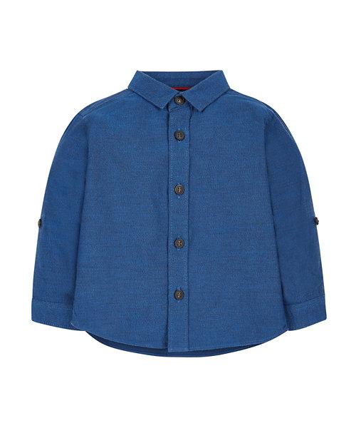 Navy Two Tone Oxford Shirt