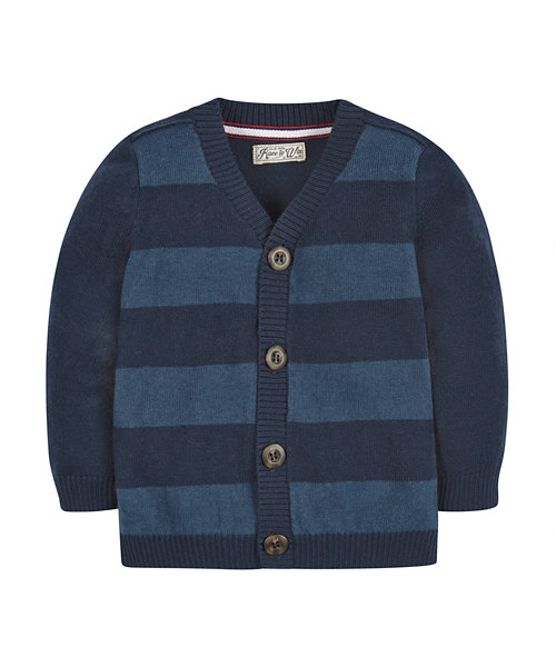 Cardigan knitted striped children