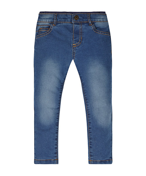 Ribbed Waist Jersey Lined Jeans