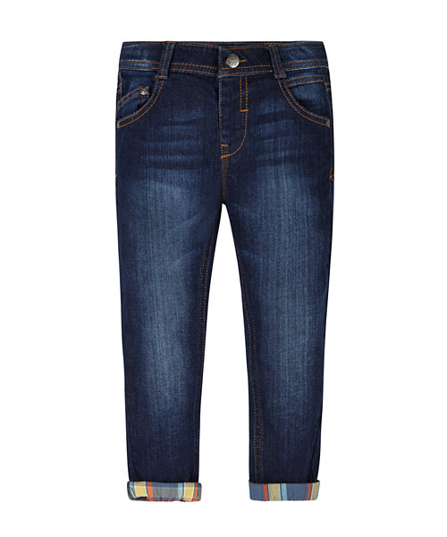 Check Roll Up Jeans