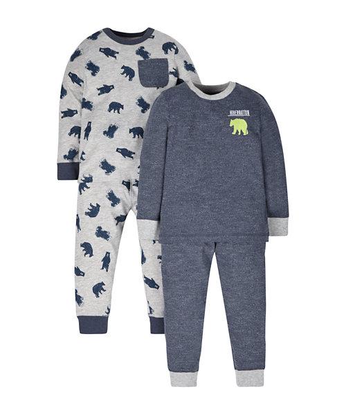 Bear Skinny Pyjamas - 2 Pack