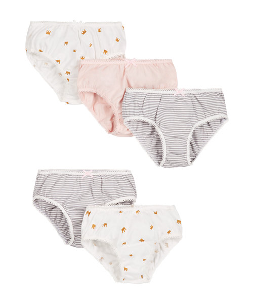 Stripy and Crown Briefs - 5 Pack