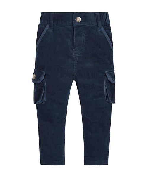 Navy Cargo Cord Trouser