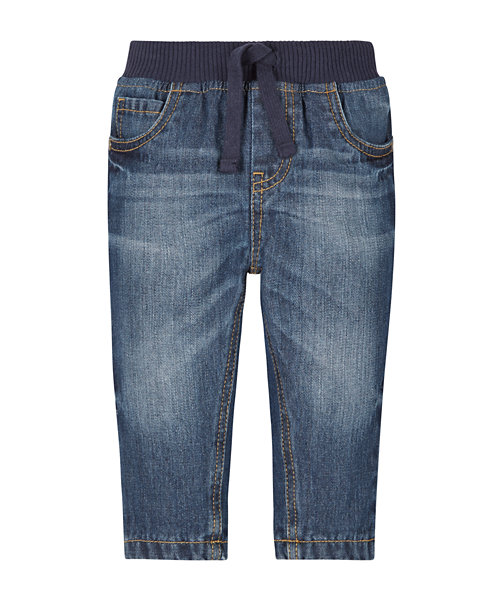 Ribbed Waist Jeans