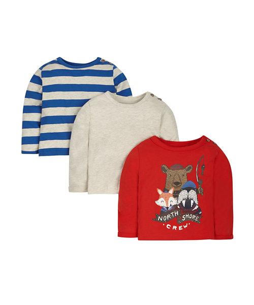 North Shore T-Shirts - 3 Pack