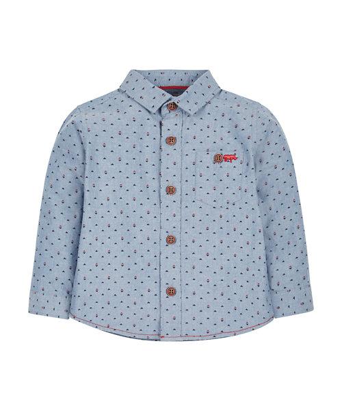 Chambray Printed Shirt