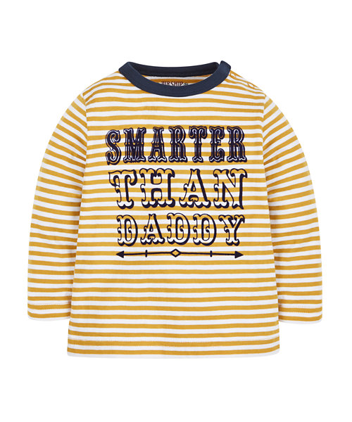 Smarter Than Daddy Striped T-Shirt
