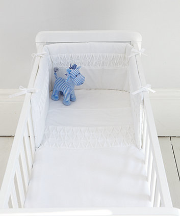 Mothercare Pleat Crib Bale - White