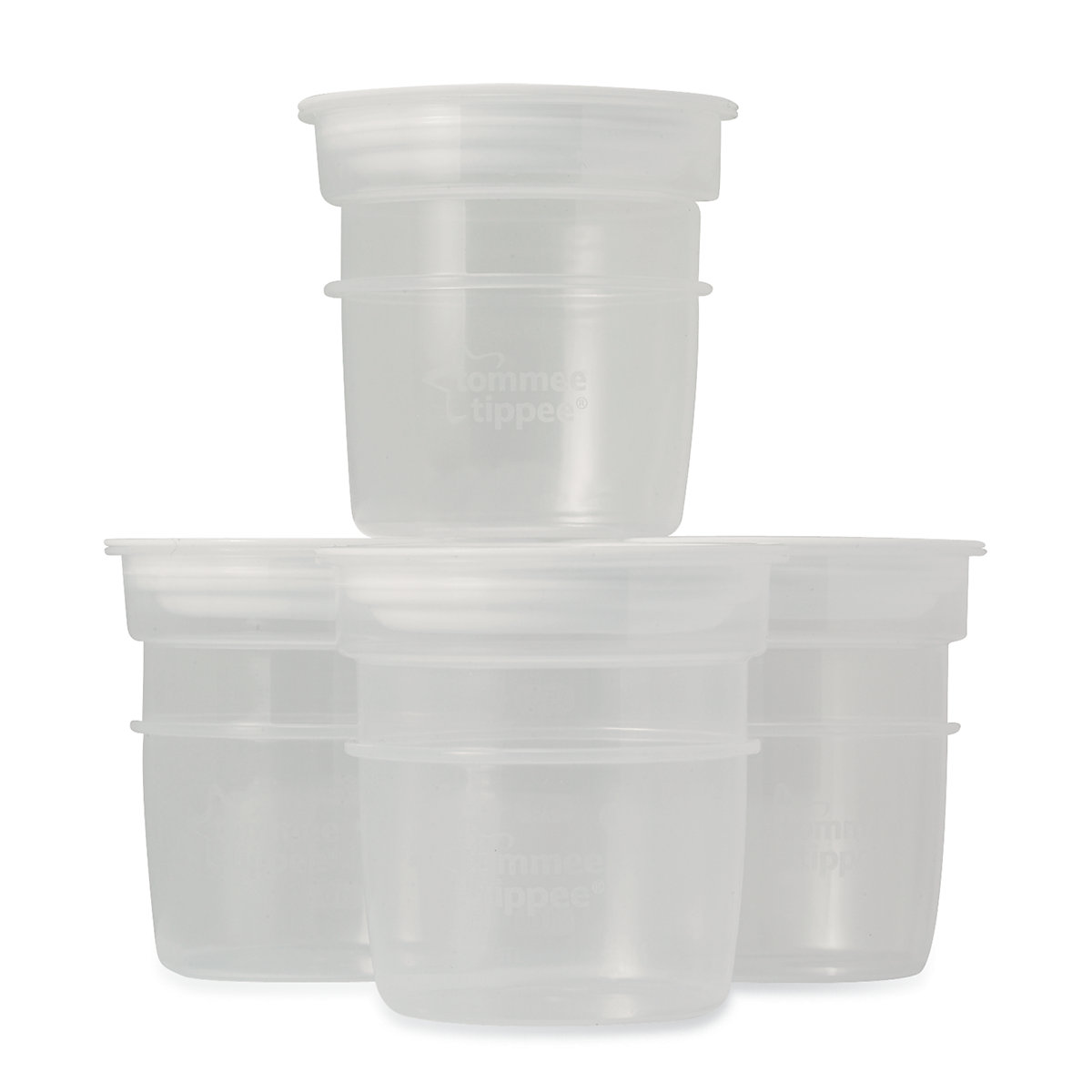 Tommee Tippee Closer to Nature Milk Storage Pots - 4 Pack