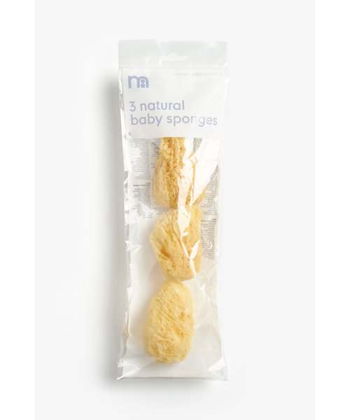 3 Natural Baby Sponges