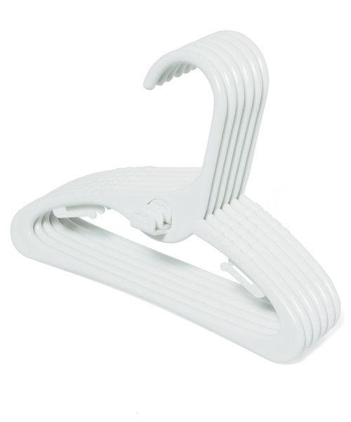 Mothercare White Baby Hangers - 6 Pack