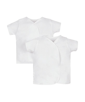 Mothercare My First Short Sleeve Wrap Vests - 2 Pack