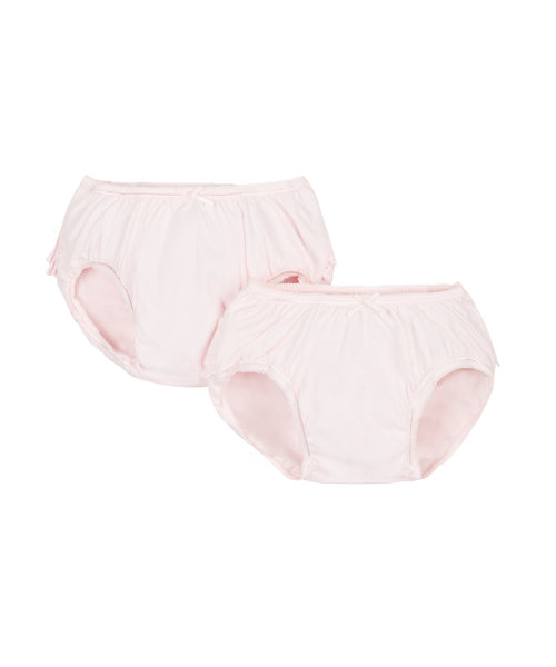 Pink Frilly Nappy Cover Briefs - 2 Pack