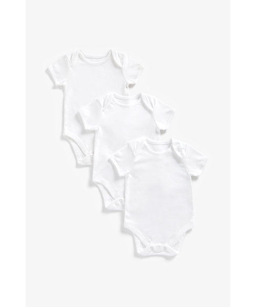 My First Short Sleeve Bodysuits - 3 Pack