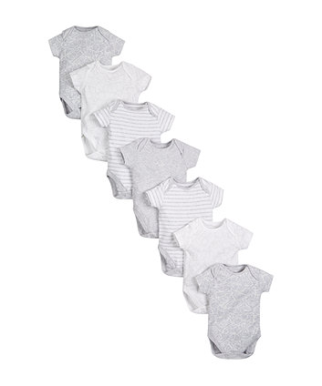 Mothercare Grey Animal Bodysuits - 7 Pack
