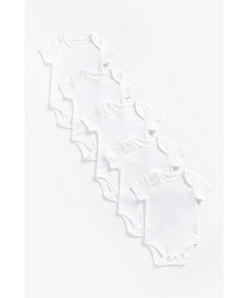 Mothercare White Bodysuit - 5 Pack