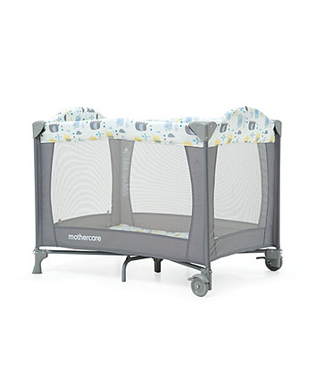 * Mothercare Classic Travel Cot - Elephants