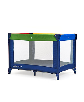 * Mothercare Colour Block Travel Cot
