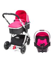 *Mothercare 4-Wheel Journey Chrome Travel System - Pink