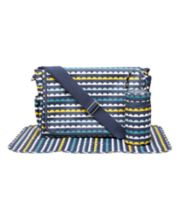 Mothercare Laminated Messenger Changing Bag- Drop Scallop Stripe