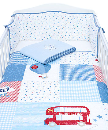 Mothercare Globe Trotter Bedding Set - Blue