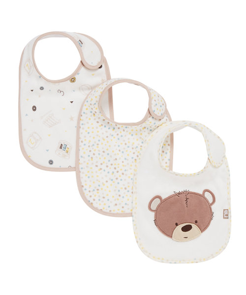 Mothercare Teddy'S Toy Box Bibs - 3 Pack