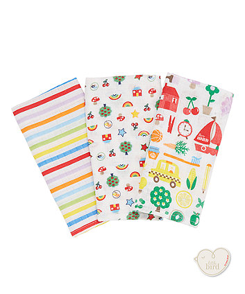 Mothercare Little Bird Muslins - 3 Pack