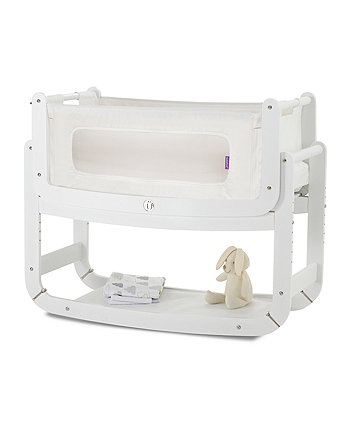 SnÜzPod 3-in-1 Bedside Crib - White