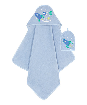 Mothercare Space Dreamer Cuddle ' Dry with Wash Mitt