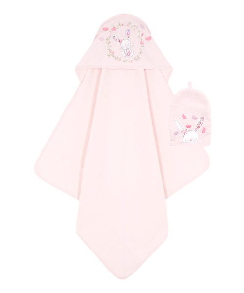 Mothercare My Little Garden Cuddle ' Dry with Wash Mitt