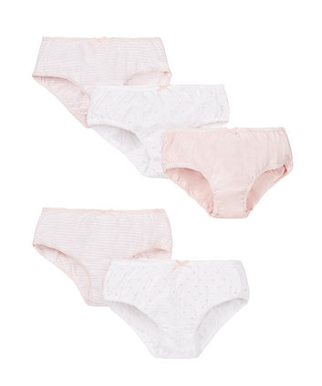 Heart and Stripe Briefs - 5 Pack
