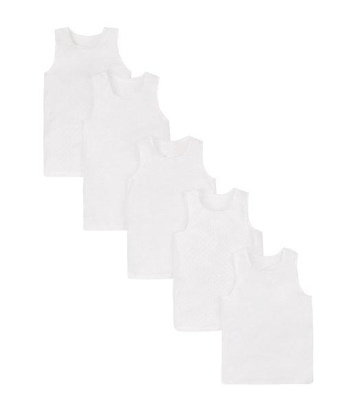 White Vests - 5 Pack