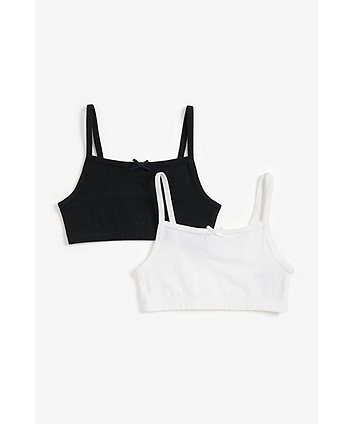 Mothercare Black And White Crop Top - 2 Pack