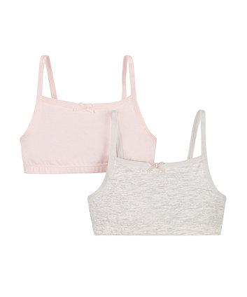 Mothercare Pink And Grey Crop Top - 2 Pack