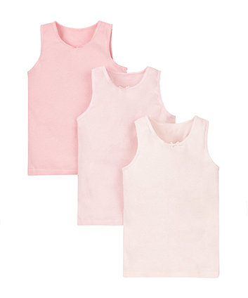 Pink Vests - 3 Pack