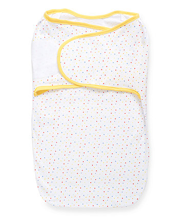 mothercare swaddle wrap - multi dot