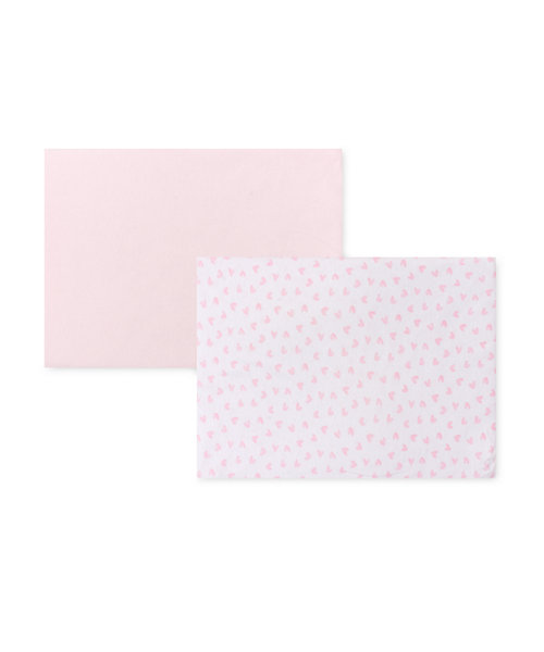 Mothercare Pink Jersey Cotton Fitted Crib Sheets - 2 Pack