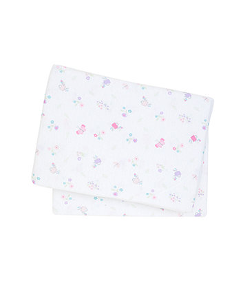 Mothercare My Little Garden Fitted Crib Sheets - 2 Pack