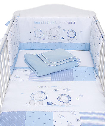 Mothercare My First Bed In Bag - Blue Elephant