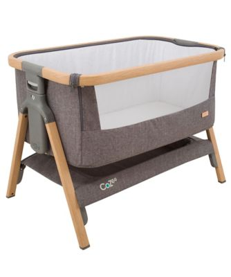 Tutti Bambini Cozee 174 Bedside Crib Charcoal Bluewater