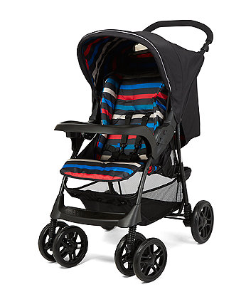 mothercare u-move pushchair travel system - black stripes
