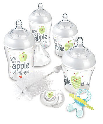 Nuby Natural Touch Newborn Starter Set - Apple Of My Eye