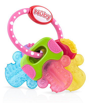 Nuby ice bite keys teether - pink