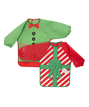 Christmas Character Coverall Bibs - 2 Pack