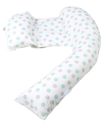 Mothercare Dreamgenii Pregnancy Support And Feeding Pillow - Geo Grey Aqua