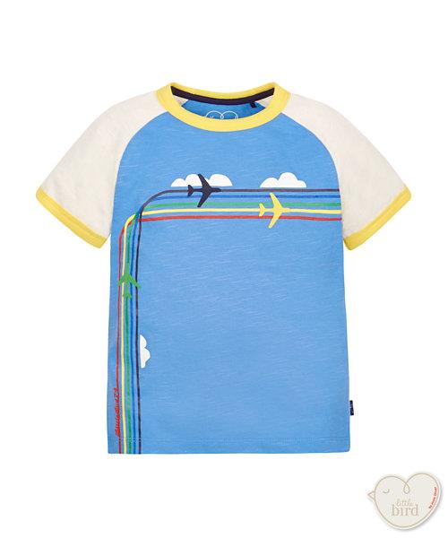 Little Bird by Jools Rainbow Plane Tee