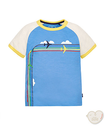 Little Bird by Jools Rainbow Plane Tee