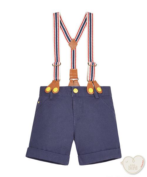 Little Bird Twill Shorts with Braces